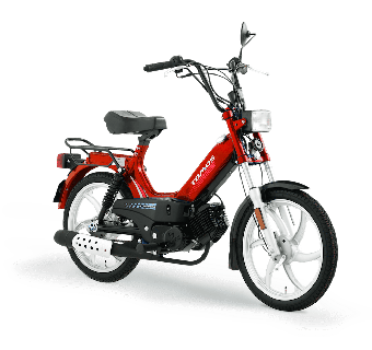 Tomos Standard XL Röd 25km/h (klass 2 moped)